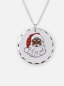 black santa claus Necklace