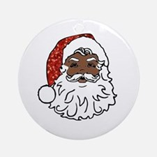 black santa claus Round Ornament