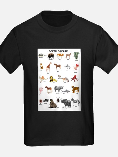 Animal pictures alphabet T