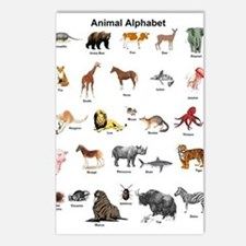 Animal pictures alphabet Postcards (Package of 8)