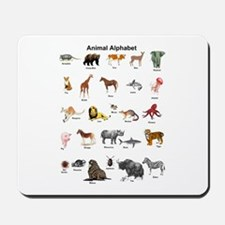 Animal pictures alphabet Mousepad