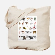 Animal pictures alphabet Tote Bag