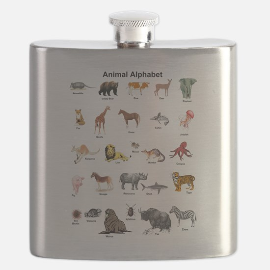 Animal pictures alphabet Flask