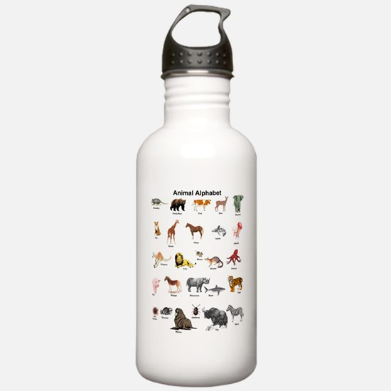 Animal pictures alphab Water Bottle