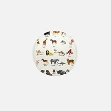 Animal pictures alphabet Mini Button