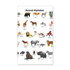 Animal pictures alphabet Wall Decal
