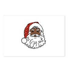 black santa claus Postcards (Package of 8)
