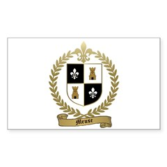 MEUSE Family Crest Rectangle Decal