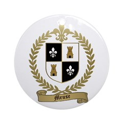 MEUSE Family Crest Ornament (Round)