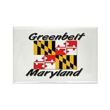 Greenbelt Maryland Rectangle Magnet