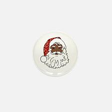 black santa claus Mini Button (10 pack)