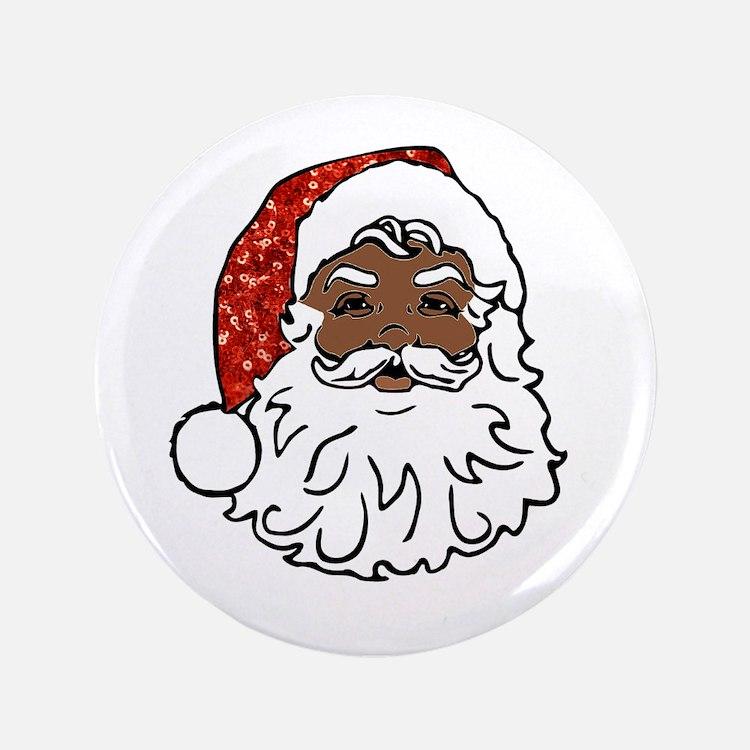 black santa claus Button