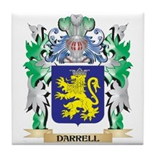 Darrell Coat of Arms (Family Crest) Tile Coaster