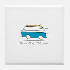 Chevrolet Corvair Greenbrier Santa Cr Tile Coaster