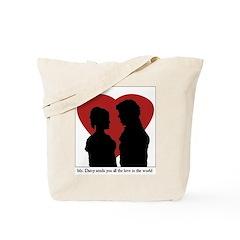 Jane Austen Darcy & Lizzy Tote Bag