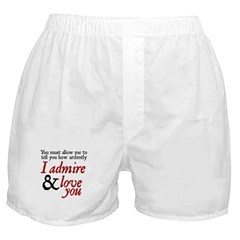 Jane Austen Ardently Boxer Shorts