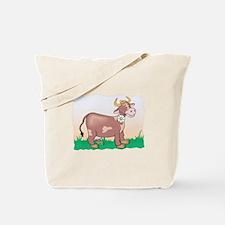 Cute Brown Cow Tote Bag