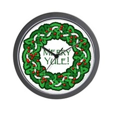 Celtic Yule Wreath Wall Clock