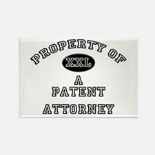 Property of a Patent Attorney Rectangle Magnet