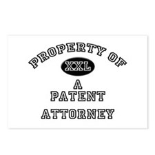 Property of a Patent Attorney Postcards (Package o