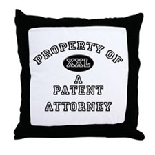 Property of a Patent Attorney Throw Pillow