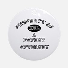 Property of a Patent Attorney Ornament (Round)