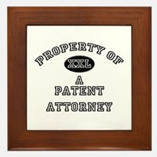 Property of a Patent Attorney Framed Tile