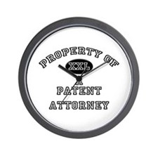 Property of a Patent Attorney Wall Clock