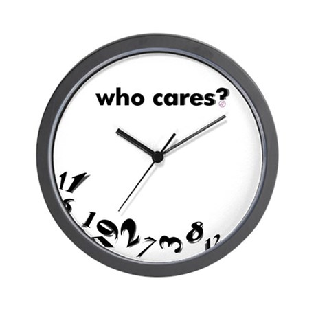 """Michelle"" Who Cares? Wall Clock"