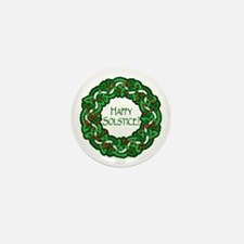 Celtic Solstice Wreath Mini Button