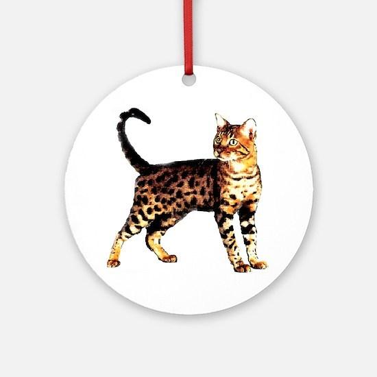 Bengal Cat: Raja Ornament (Round)
