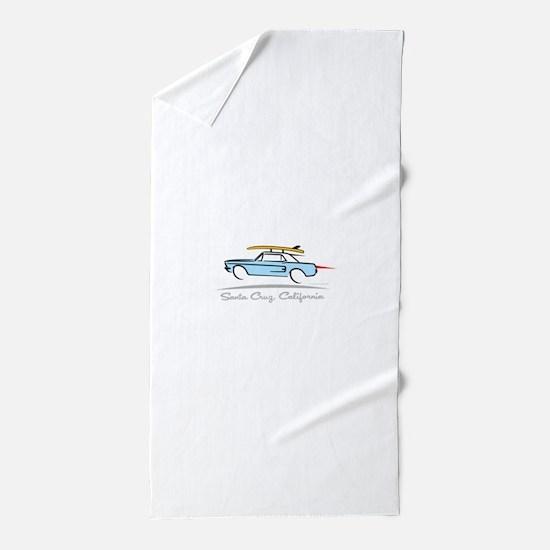 Ford Mustang Hardtop Santa Cruz Beach Towel
