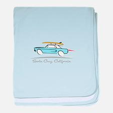Ford Mustang Hardtop Santa Cruz baby blanket