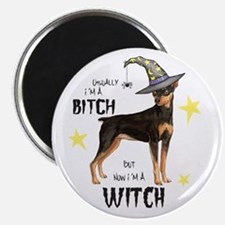 Min Pin Witch Magnet