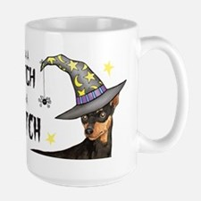 Min Pin Witch Large Mug