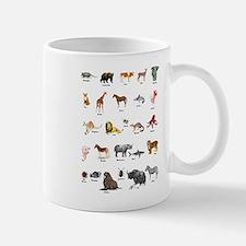 Animal pictures alphabet Mug