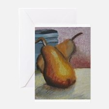 Unique Pear Greeting Card
