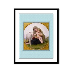 Virgin and Lamb-Bouguereau-9x12 Framed Print