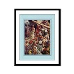 Carrying Jesus Cross-Copping-9x12 Framed Print