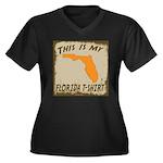 My Florida T-Shirt Women's Plus Size V-Neck Dark T