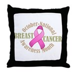 Breast Cancer Month Throw Pillow