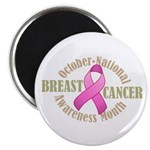 """Breast Cancer Month 2.25"""" Magnet (10 pack)"""