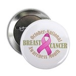 "Breast Cancer Month 2.25"" Button (100 pack)"