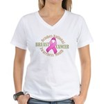 Breast Cancer Month Women's V-Neck T-Shirt