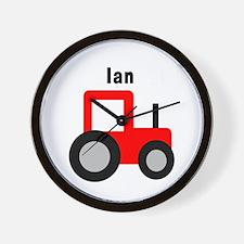 Ian - Red Tractor Wall Clock