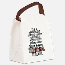 Unique Baseball mom Canvas Lunch Bag