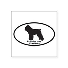 "Unique Bouvier des flandres Square Sticker 3"" x 3"""