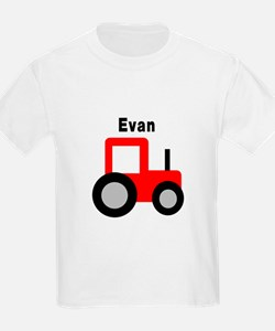 Evan - Red Tractor T-Shirt