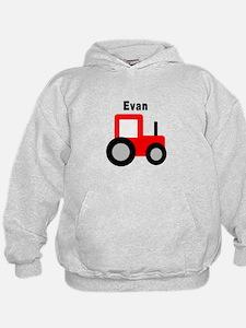 Evan - Red Tractor Hoodie