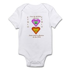 I LOVE THE ALL EYM COLLECTION Infant Bodysuit